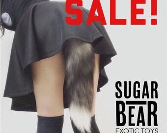 Butt Plug Tail / Mature / Anal Sex Toy / Fox Fur Tail / Fox Butt Plug Tail / Fast Shipping
