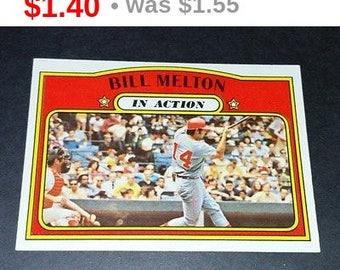 Vintage BILL MELTON REDS 1972 Toops #184 Gd-Vg