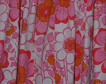 Vintage pink,orange white skirt with lace bottom,