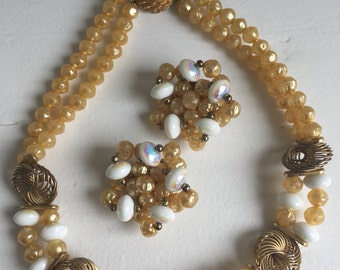 Vintage couture Jenny d'Ormond Paris vintage necklace and earrings