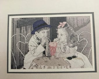 Vintage Leisure Arts counted cross stitch Sweethearts Pattern