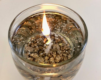 """Pyrite """"Fool's Gold"""" Candle - Protection & Good Fortune"""