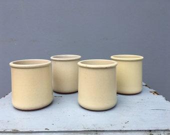 Set of four ceramic pots