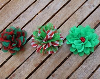 Christmas Dog Flower, Custom Size Loop, Dog Flower, Dog Accessory, Dog Collar Flower