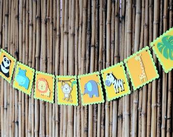 Safari, Jungle, Zoo, Animal Banner, Birthday Banner, Party Display, Photo Prop, Party Decor, Decoration