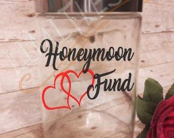 Honeymoon Fund, Honeymoon Jar, Wedding Money, Savings, Wedding Fund, Honeymoon, Bride to be, Savings Jar, Piggy Bank, cyber monday sale