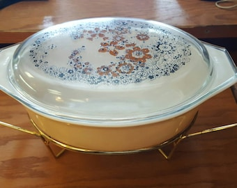 Vintage Mid-Century Pyrex Chafing Dish