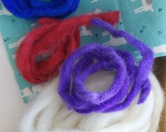 Alpaca roving hand dyed