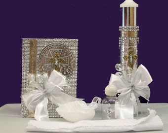 Baptism and First Communion Candle Set: Alexis