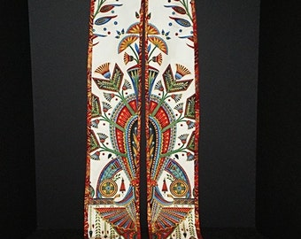 ART DECO Reversible RED Stole 120R by Rosemary St. Clair