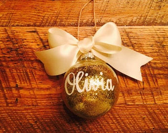 Personalized glass ball ornament  Etsy CA