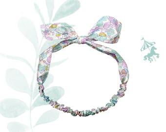Headband baby / child liberty celadon