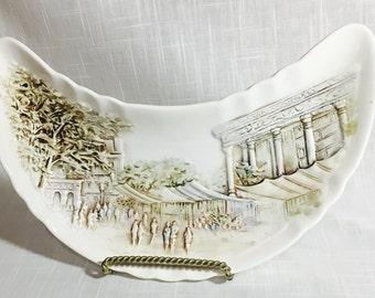 Ardalt Lenwile Hand Painted CRESCENT BONE CHINA Dish  # 6972