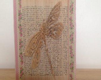 Dragonfly cut & fold book art