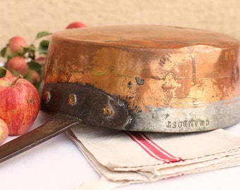 French antique copper saucepan - Chambost