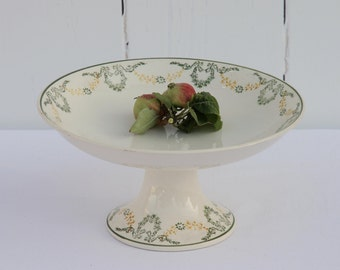French vintage Longwy 'Georges' cake stand or compotier - medium