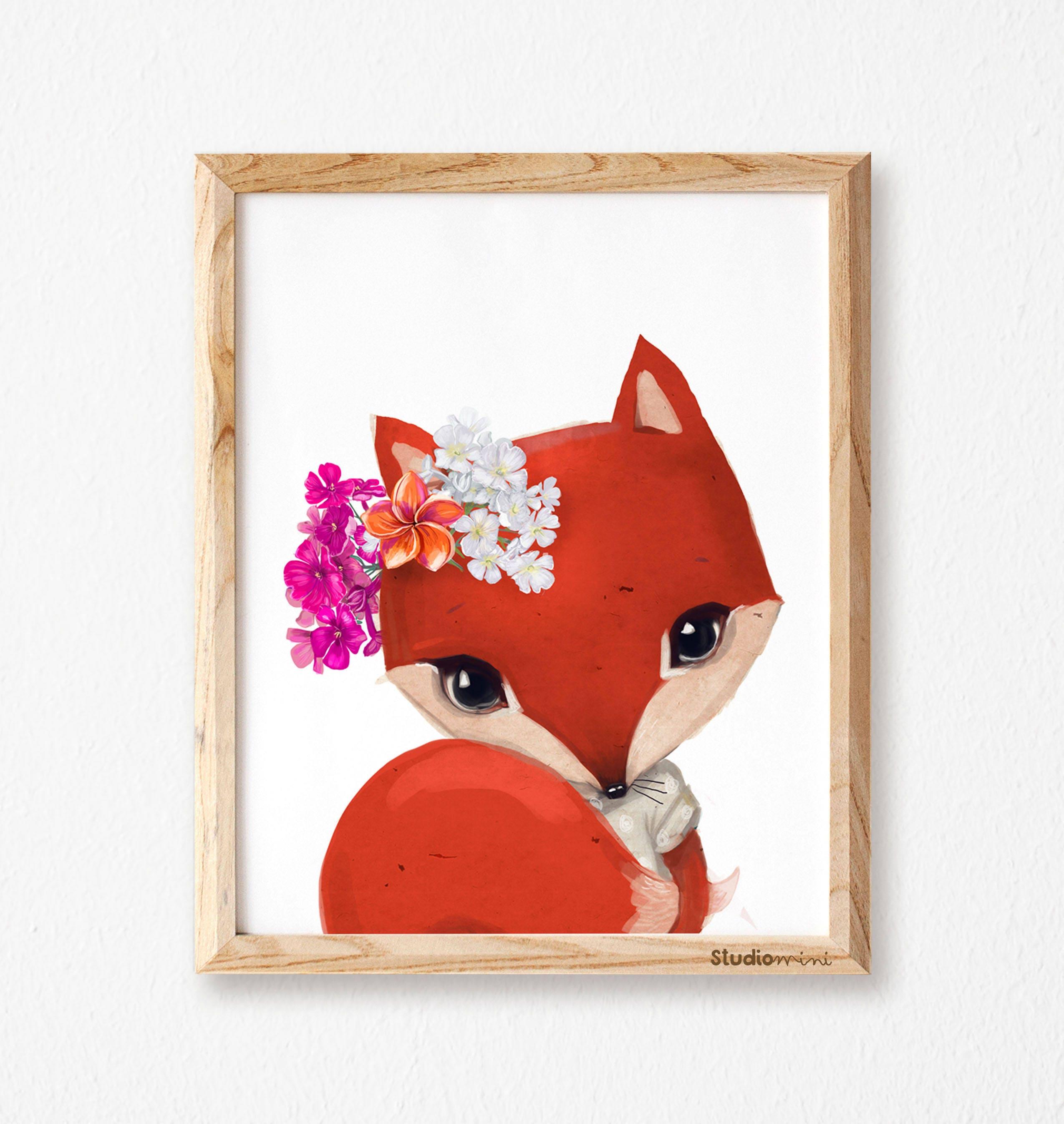 Fox Wall Art fox print fox art fox wall art geometric fox print fox