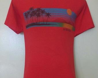 vintage T Shirt, Hawaii, Hanes 80s