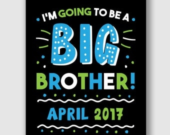 Big Brother Announcement Sign, Printable Pregnancy Announcement, Big Brother Sign