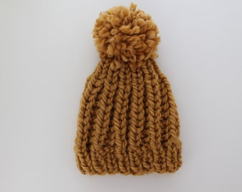 Toddler  (1-3 years) Chunky Knit Pom Toque