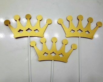 Glitter Crown Centerpiece Sticks