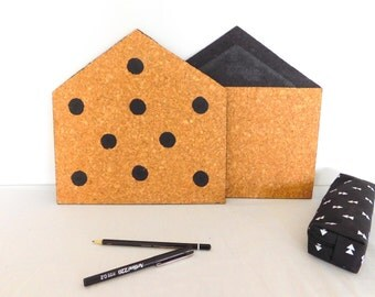Items Similar To Fabric Covered French Pinboard Cork