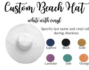 Floppy White Beach Hat