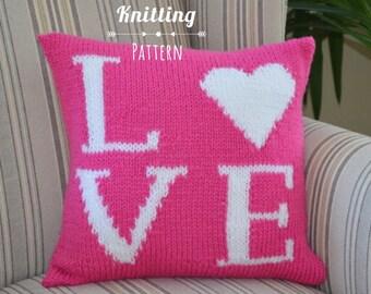 LOVE knit pillow PATTERN
