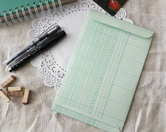Handmade Self Sealing Ledger Paper Envelope for Letters, Cards, Notes and Invitations