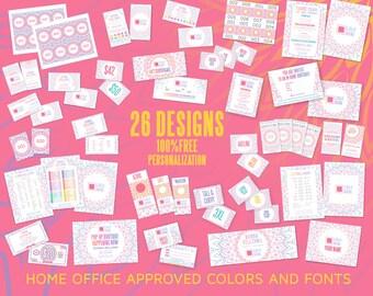 Marketing Kit, Mandala design, Branding, Marketing for Consultant, Promotion, 26 designs Branding Package Bundle
