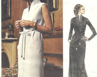 1971 Vintage Vogue  Sewing Pattern B36 DRESS (1514) By TEAL TRAINA