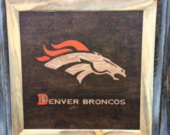 Denver Broncos Wood Art Made to order