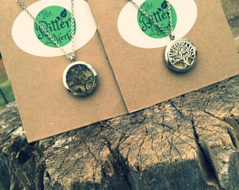 Essential Oil Infused Solid Perfume/Lip Balm Necklaces