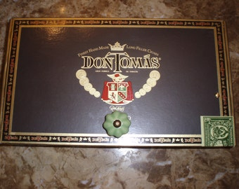 Cigar Box Art // Wine Cork Holder // Valet // Keepsake Holder