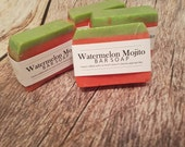 Watermelon mojito handmade soap
