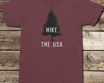 Hike The USA - Hiking T-Shirt - Backpacking T-Shirt - National Parks