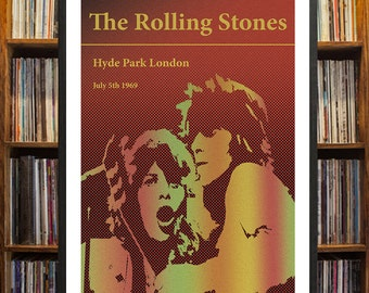 The Rolling Stones Hyde Park Concert Poster