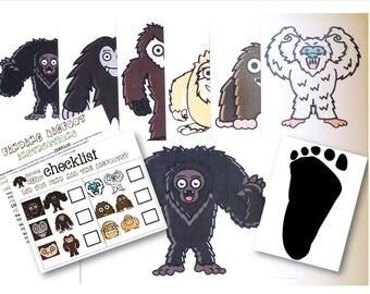 Finding Bigfoot Game, BIGFOOT, Sasquatch, Kids game, party game, birthday party game, kids birthday party, bigfoot game, bigfoot download