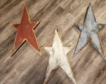 Primitive Americana Stars ( set of 3)