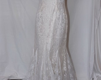 Lace Handmade Mermaid Wedding Dress