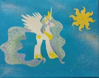 Princess Celestia splatter painting