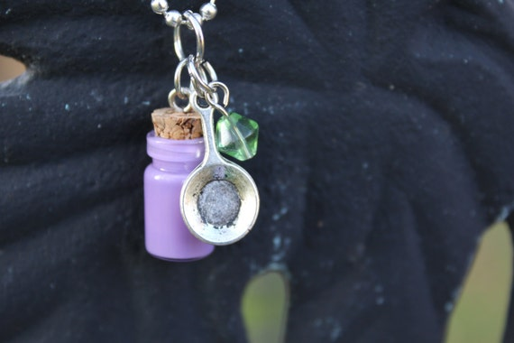 Tangled - mini cork bottle necklace