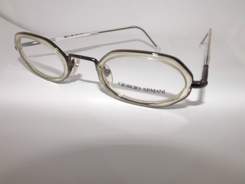 Giorgio armani eyeglasses frame glasses frame made in italy vintage ...