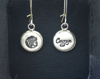 Courage of a Lion Handmade Pottery Earrings