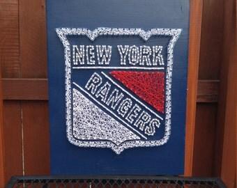 New York Rangers string art hockey new york