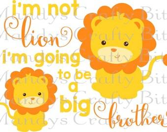 SVG Onesie bundle  3 files Hear me Roar -Isnt she Lovely -Big Brother