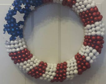Independence day wreath / holiday wreath / front door wreath / 4th of July wreath / memorial day wreath / door wreath / summer wreath