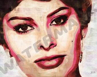 Sophia Loren Art Print - Oil Painting Poster  LFF0189