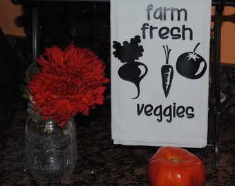 Farm Fresh Veggies Tea Towel