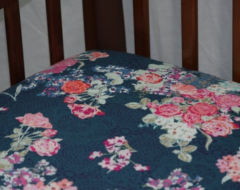 Fitted Crib Sheet - Nici Flora Oceanon